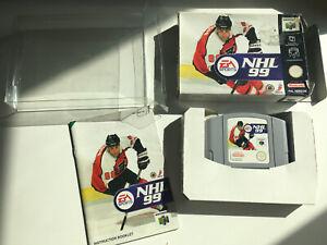 NHL 99 N64 Reino Unido PAL en Caja W Manual Nintendo EA Deportes en muy buena condición