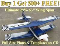 Ultimate 63 Giant Scale Rc Airplane Plans & Templates On Cd In Pdf Format