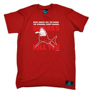 Scuba-Diving-T-Shirt-Funny-Novelty-Mens-tee-TShirt-Sharks-Kill-You