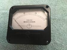 Vintage Radio Transmitter Panel Meter Percent Modulation 0 30 Lot 427