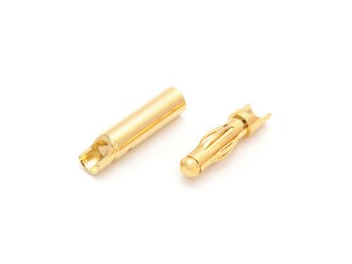 Gold enchufe de contacto 4,0mm Lamas contacto 1 par