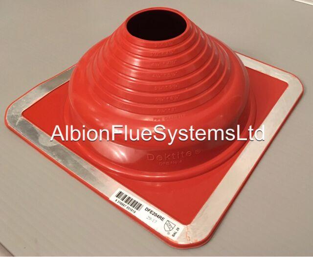 Dektite Premium flashing for metal roofs 5-55mm Pipe//Flues RED Silicone