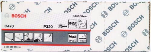 50-er Bosch Schleifpapier C470 Schleifblatt Best for Wood Paint 93x180 mm 8 Loch