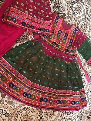 Dall'afghanistan Tradizionale Abito Donna Kochi Abiti Da Sera Festa Matrimonio Usato Taglia Uk 12-mostra Il Titolo Originale