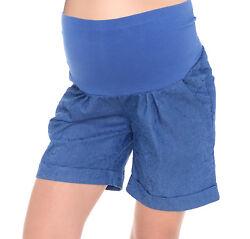 Mija – Kurze Jeans Umstandsshorts / Umstandshose mit Bauchband für Sommer 1045