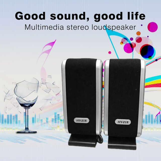 HY-218 MULTIMEDIA STEREO USB SPEAKERS SYSTEM FOR LAPTOP PC COMPUTER LOT QH