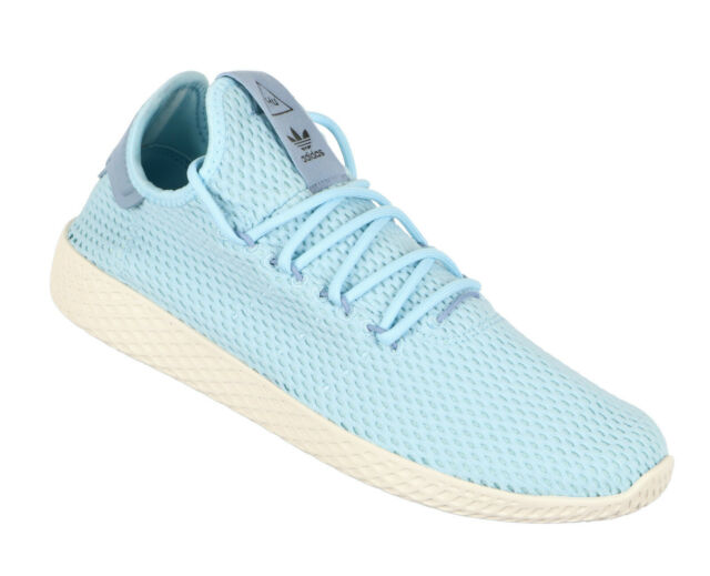 4e2766a04 ADIDAS Pharrell Williams Tennis HU Casual Shoes sz 9 Tactile Blue Ice Blue