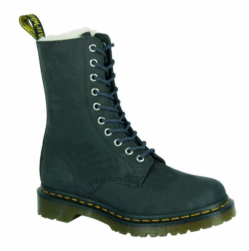 Dr Martens 10 Hole 1490 Fl Graphite Grey 21590070 the Original Padded