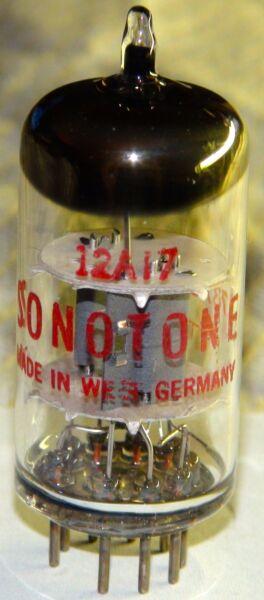 Liefdadig Vintage Telefunken Sonotone 12at7 Ecc81 Vacuum Tube Strong & Balanced Nieuw (In) Ontwerp;