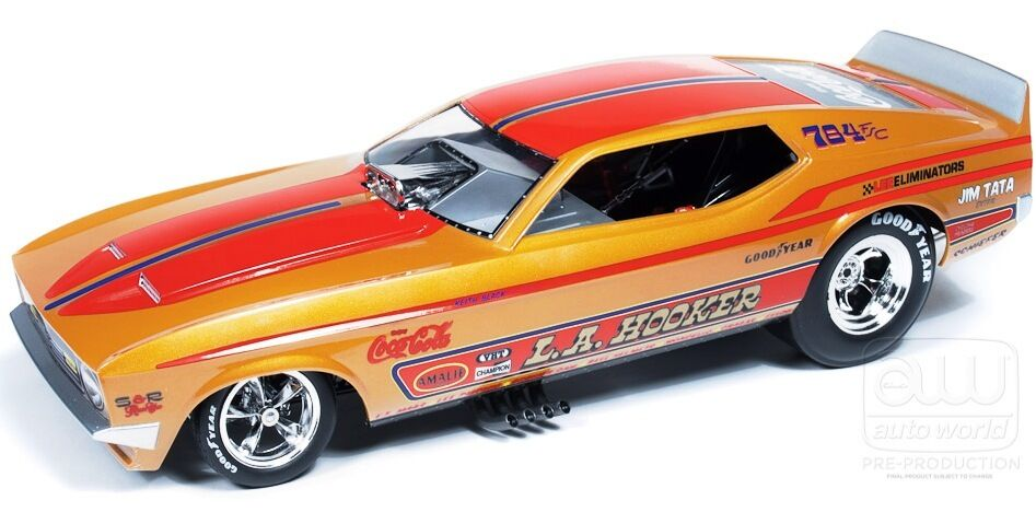 1971 Ford Mustang FUNNY CAR LA HOOKER 1 18 Car World 1106
