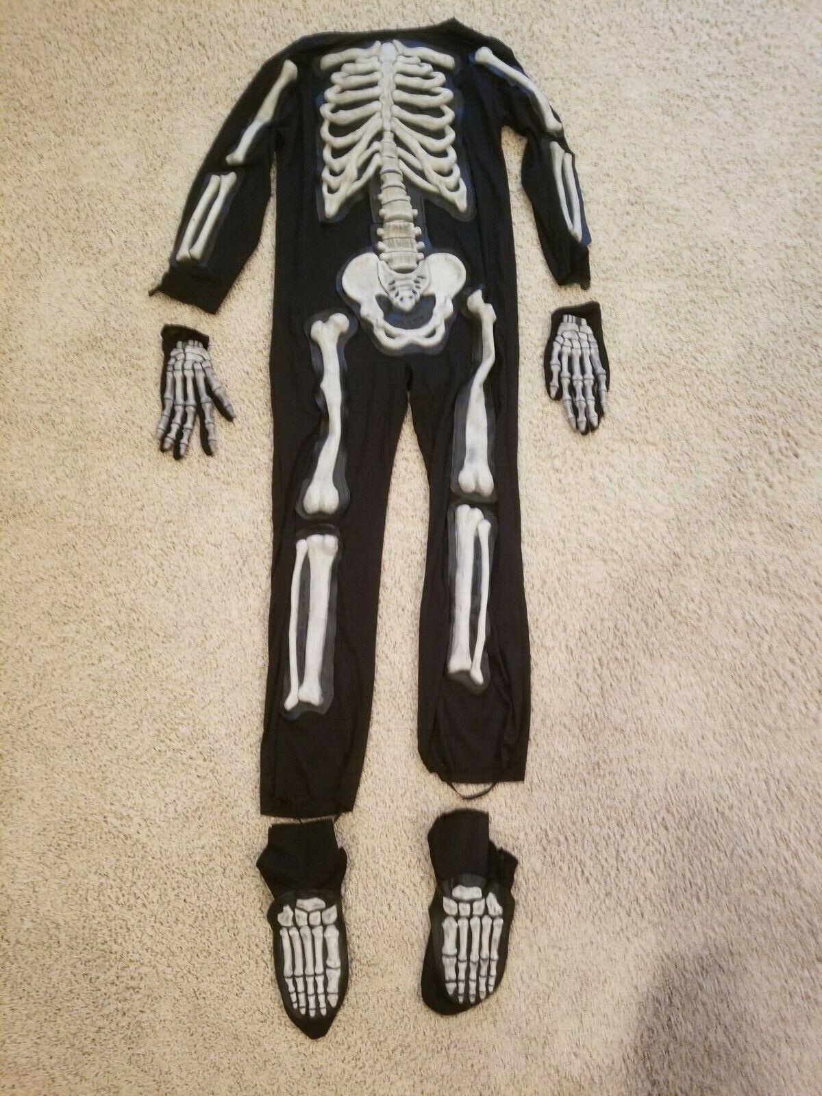 Kids Size (8-10) Medium 3D Skeleton Halloween Costume