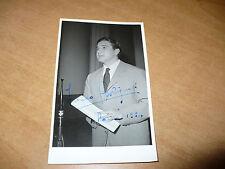 FOTOGRAFIA IN BIANCO E NERO FRANCO BOLIGNARI CON AUTOGRAFO ORIGINALE 1954