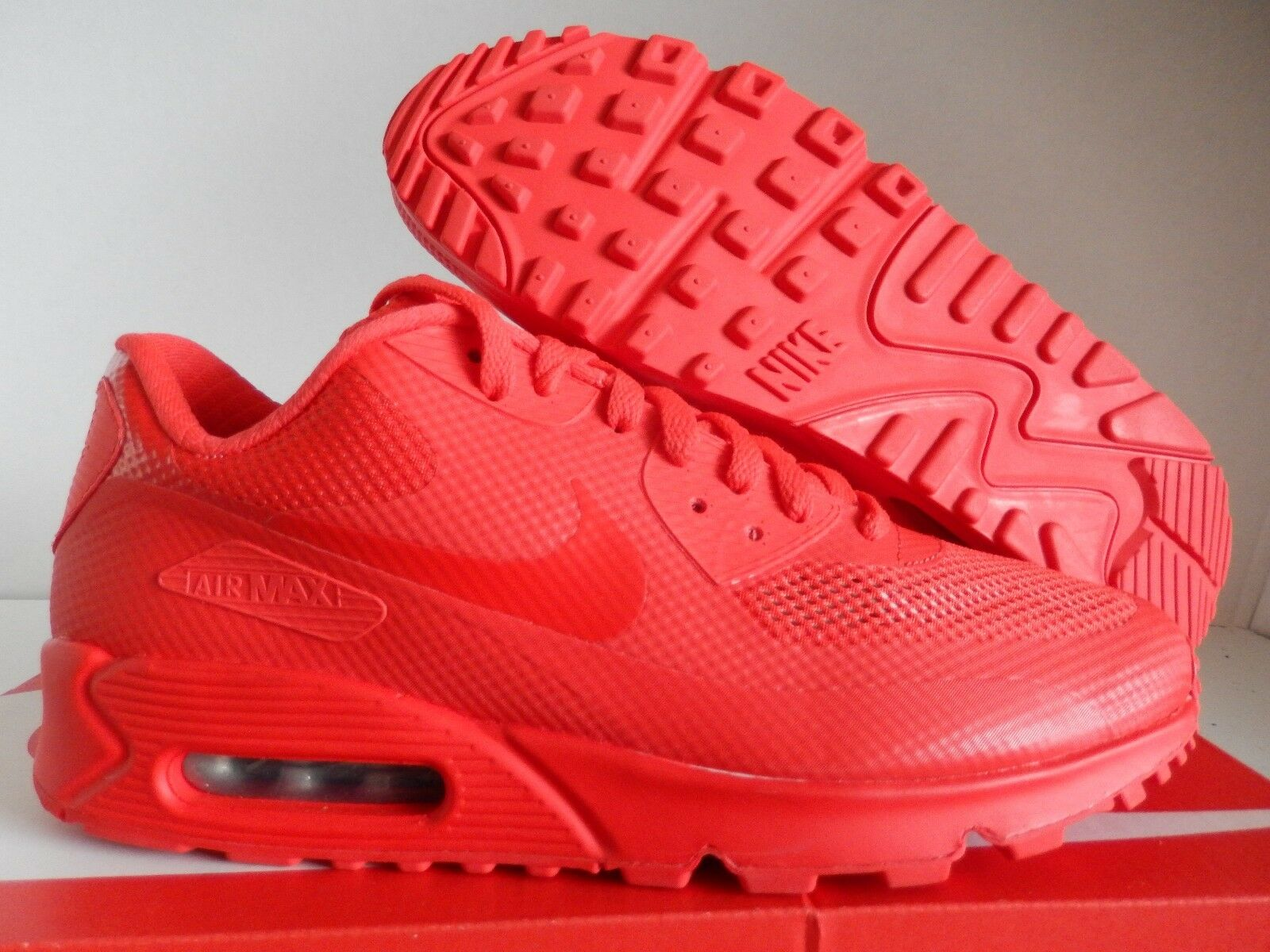"NIKE AIR MAX 90 HYP HYPERFUSE PREMIUM ID ALL RED ""RÖD OKTOBER\"" SZ 9 [653603-991]"