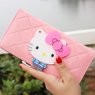 d95eb55d8 Luxury long Wallet Hello Kitty Cute Short Small Ladies long Wallet Womens  New | eBay