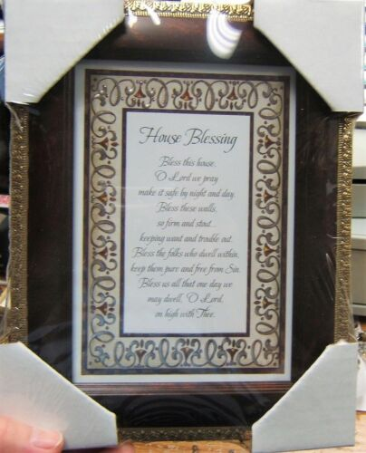 "7/"" x 9/"" Tabletop or Wall Framed Art Print  HOUSE BLESSING Prayer Bless this...."