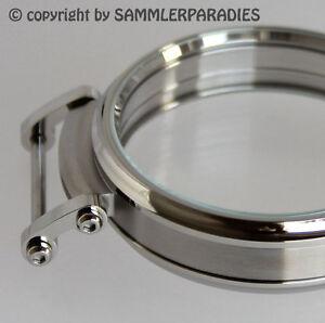 49mm STAHL HOCHGLANZ CASE für Einbau Uhrwerke MOSER NARDIN DOXA UNION etc& KRONE