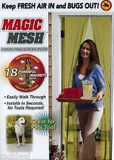 Magic Mesh Hands-Free Screen Door with magnets AS SEEN ON TV New in Original Box