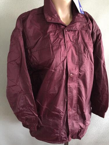 BNWT Boys or Girls Sz 10 LW Reid Waterproof Polar Fleece Lined Maroon Rain Coat