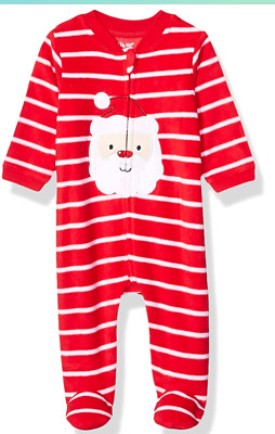 New Little Me Baby Boys Size 3M One-Piece Footie Helicopter Stripes Gray