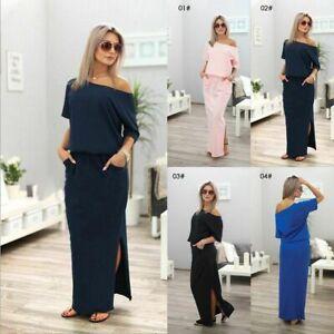 Women-039-s-Summer-Boho-Long-Maxi-Dress-Evening-Cocktail-Party-Beach-Dress-Sundress
