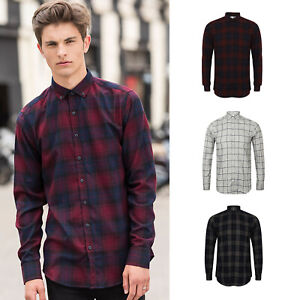 Klassische Hemden Selbstlos Sf Brushed Check Casual Shirt With Button-down Collar Sf560 Herrenmode