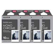 40 Prints Fujifilm instax mini Monochrome B&W Instant Film for Fuji 9 8 70 90