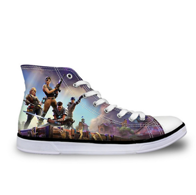 Fortnite Kids Size Canvas Sneakers