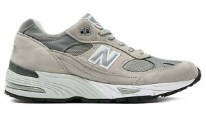 NEW-BALANCE-M991-Leather-Made-in-UK-Scarpe-Uomo-Sneakers-GREY-M991GL