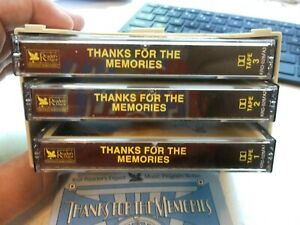 Thanks For The Memories (1930's) Readers Digest Cassette Tape Set of 3 & Booklet