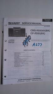 sharp cms r500av cp r500 service manual original repair book stereo rh ebay com Sharp CD Stereo Sharp CD Stereo