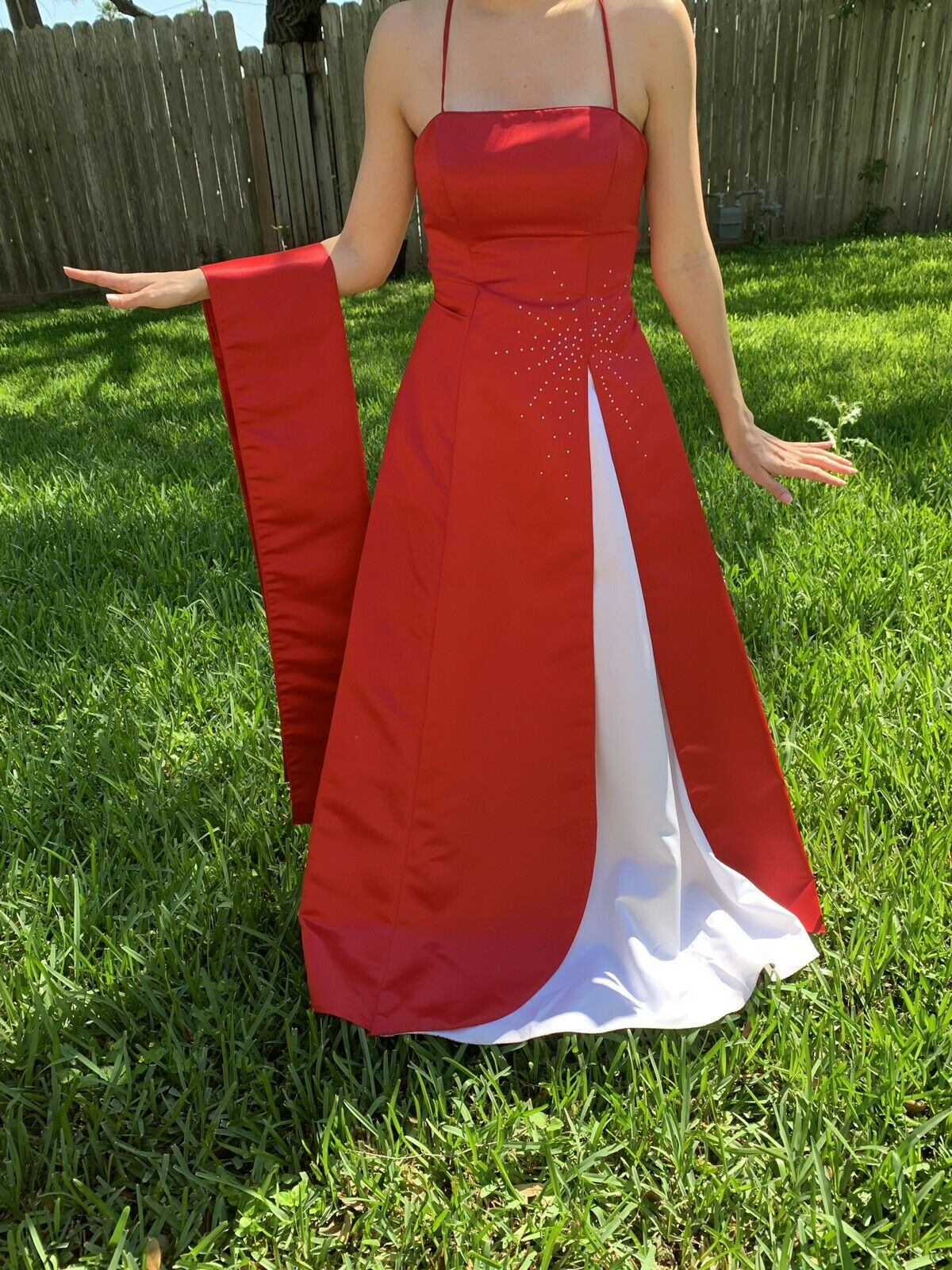 Red/white Prom Dress - image 2