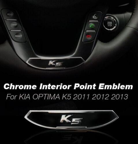 K5 Interior Exterior CHROME Logo Point Emblem1P FOR KIA 2011-2015 OPTIMA