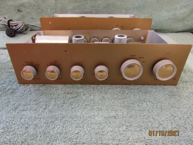 Pair HEATHKIT TUBE PREAMPLIFIER WA-P2 with Original Manual