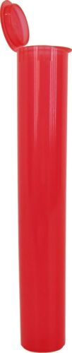 Pre-Roll Tubes 100 Red 109mm King Size Herbs Storage Meds Spices #PRT109TR