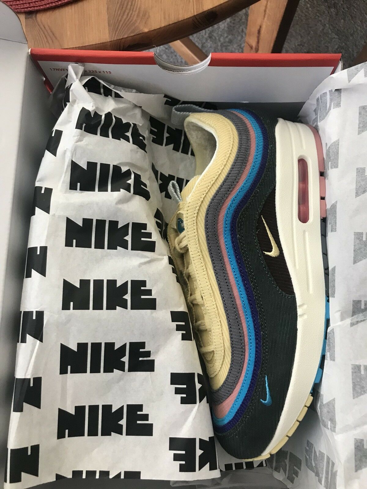 Nike Air Max 1/97 SW Sean Wotherspoon Brand New size 8 with receipt Special limited time