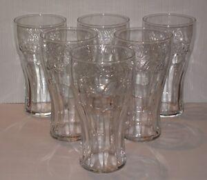 6-verres-COCA-COLA-soda-pub-bar-bistrot-glasses