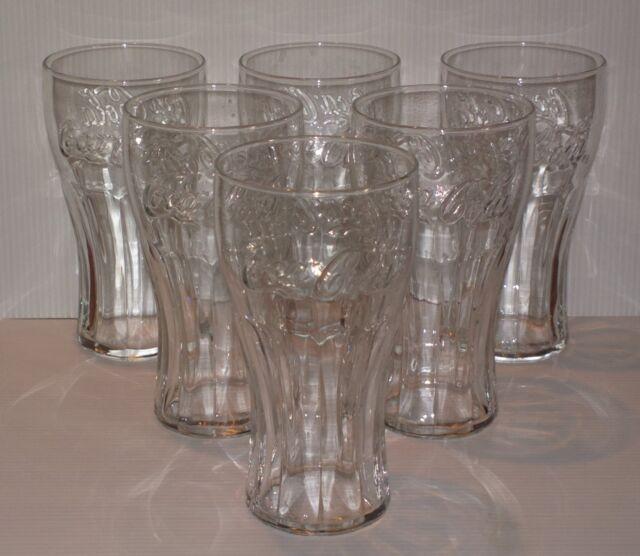 6 verres COCA COLA soda pub bar bistrot glasses