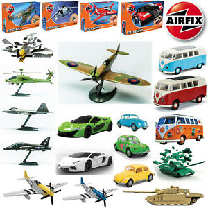 AirFix-Quick-Build-Model-Kits-Starter-Set-Road-Vehicle-Aircraft-Ships-Tanks-WWII