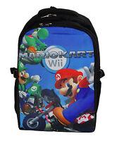16 Backpack School Book Bag Black Super Mario Bros Kart Wii Luigi Yoshi Green