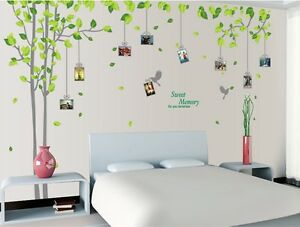 Strange Details About Green Family Tree Vinyl Wall Decal Sticker Art Mural Baby Kids Bed Room Decor Home Interior And Landscaping Ologienasavecom