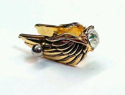 Cartilage Helix 16g Stud Earring Angel Wing Ear Cuff Jewelry Piercing