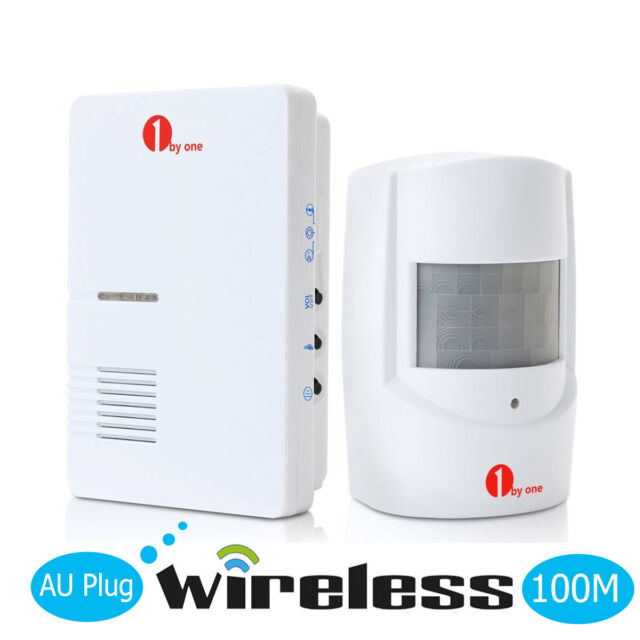 1byone AU Mains Entry Doorbell Wireless Alarm Infrared Sensor Detector 36 Chimes