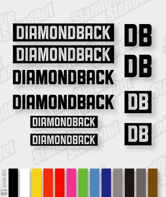 DIAMONDBACK Die-cut Decal Sticker sheet cycling, mtb, bmx, bike, frame V4