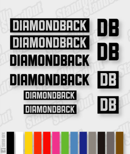DIAMONDBACK Die-cut Decal Sticker sheet cycling, mtb, bmx, bike, frame V8