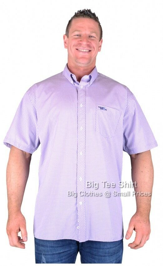 Big Mens purplec Three Before Eight Warker S S Shirt 2xl 3xl 4xl 5xl 6xl 7xl 8xl