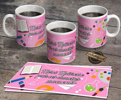 Idée Cadeau Fin D Année TASSE Mug Merci maîtresse idée Cadeau fin d'année scolaire | eBay