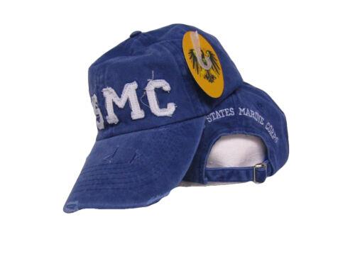 con Logo da Usmc Corps Blu Denim Scambiato Sdrucito Cappello Copertura Ruf
