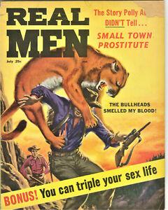 Real Men Magazine: July 1963 - Sex, Pulp, Eva Lynd, Adventure, Cenia Eidson