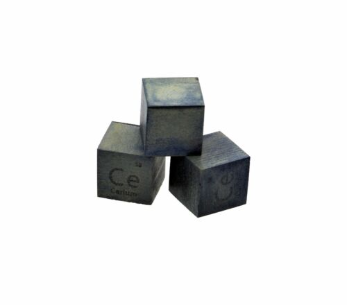 Cerium Metal 10mm Density Cube 99.9/% Pure for Element Collection