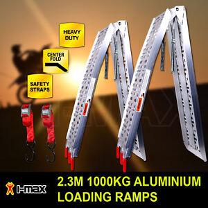1000KG-2-3M-Pair-Aluminium-Folding-Loading-Ramps-ATV-Motobike-Motorcycle-Trailer